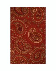 Jaipur 5ft x 8ft Pure Wool Paisley Pattern Tufted Carpet For Living Room